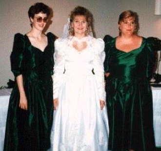 Dark Green Bridesmaids