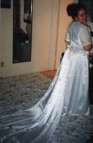 Back of Sari Wedding Dress